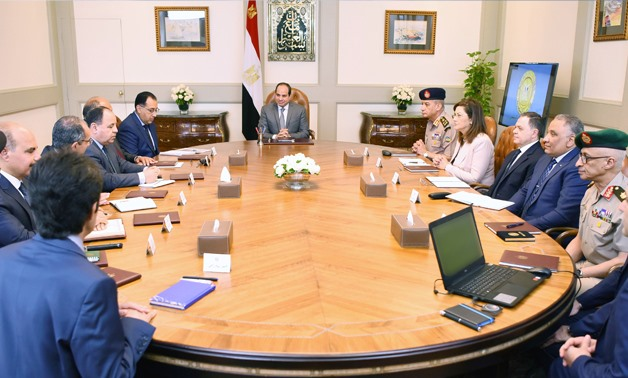 President Abdel Fatah El Sisi held a meeting on Thursday with the Cabinet members on Thursday, May 9, 2019- press photo