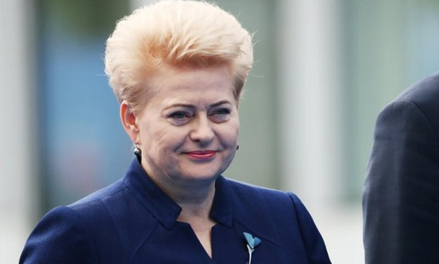 Lithuania's President Dalia Grybauskaite arrives for the second day of a NATO summit in Brussels, Belgium, July 12, 2018. Tatyana Zenkovich/Pool via REUTERS