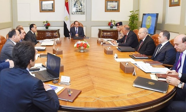 President Abdel Fatah al-Sisi meets with Prime Minister MostafaMadbouli and a number of ministers and high-level officials – Press photo