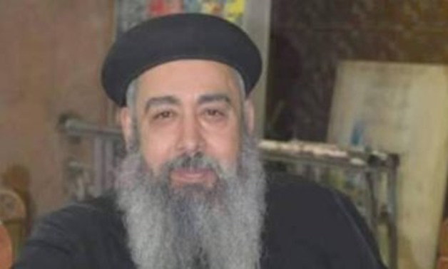 FILE - Priest Makar Saad of Mary Marcus Church in Shubra