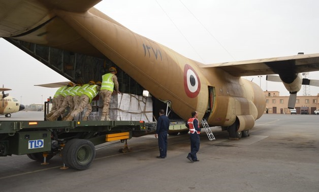 Egypt is sending humanitarian assistance to Mozambique, Malawi and Zimbabwe to help them overcome the adverse effects of the Cyclone Idai- press photo