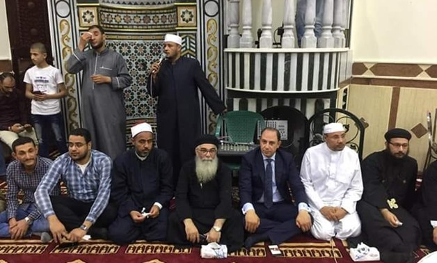 A group of priests and Coptic Christians participated in the inauguration of a new mosque in Assuit governorate- Egypt Today/Mahmoud Agamy.