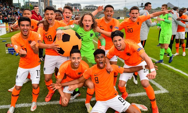 File- Netherland players celebrate the victory, photo courtesy of UEFA