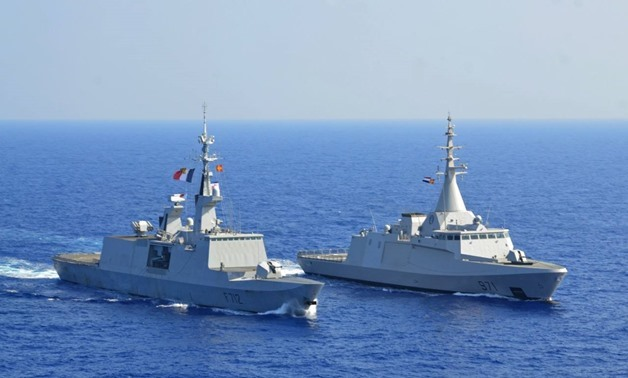 Units of the Egyptian, UK and French navies have taken part in war games in