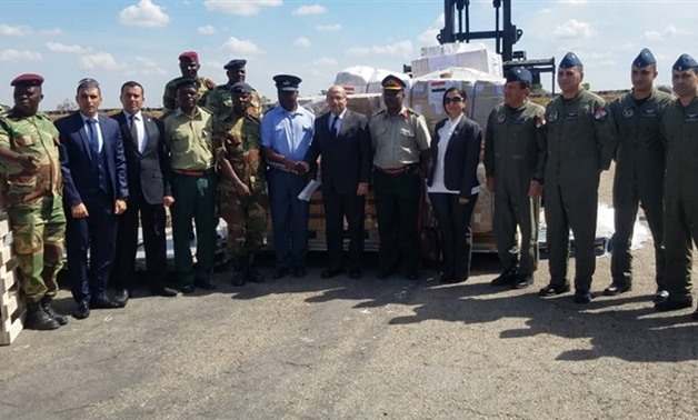 Egyptian Ambassador to Zimbabwe Mohamed Fahmy received Wednesday two military planes carrying aid to face the aftermath of the hurricane that hit Mozambique, Malawi and Zimbabwe in the presence of the minister of local government, public works and nationa