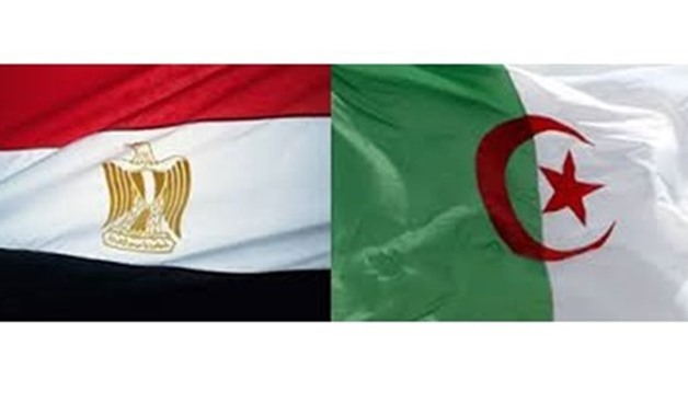 Egypt and Algeria Flags - Photo credit the state information service website