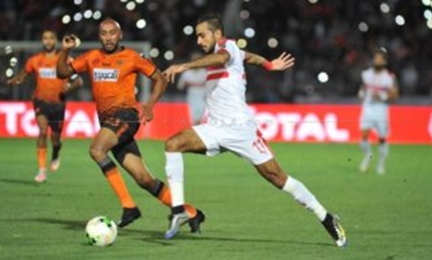 FILE - Zamalek's Kahraba vs RSB Berkane player