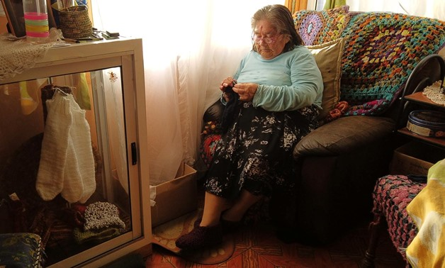 The last woman from a tribe Yagan and speaker of this language, Cristina Calderon, 91, takes part in an interview with Reuters at her house in Ukika village, Puerto Williams, Chile May 17, 2019. REUTERS/Jorge Vega