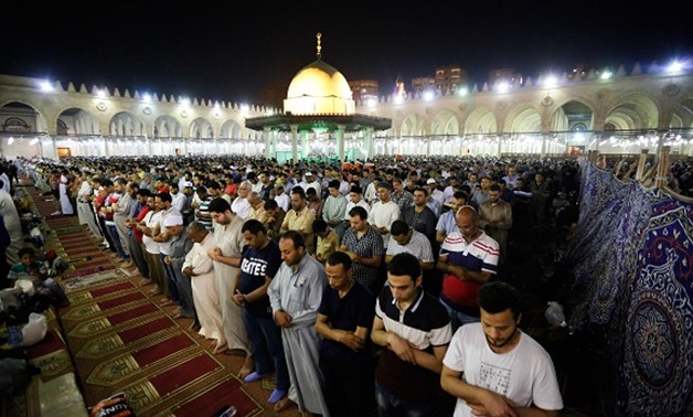 Worshippers performing Tarawih prayer during the Holy month of Ramadan in Egypt - FILE