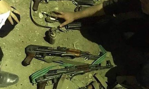 Arms possessed by criminals in Sharqia and confiscated by police. June 5, 2019. Press Photo
