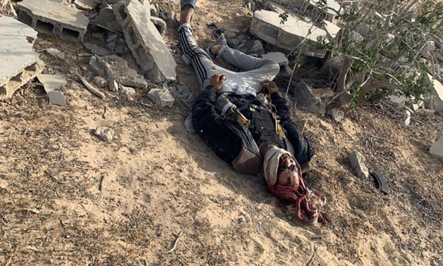 One of terrorists attacked a checkpoint in Arish, and was shot dead by police forces Wednesday, 5 June 2019 - Press photo