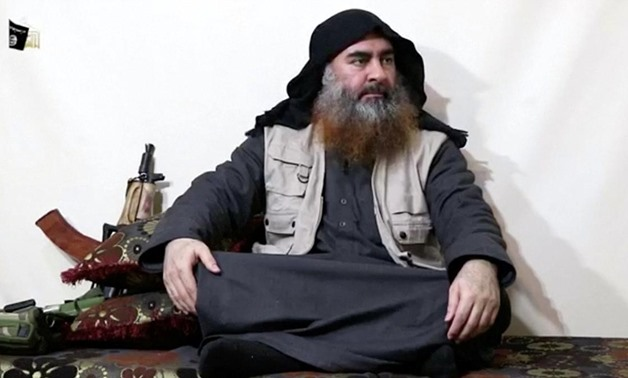 A bearded man with Islamic State leader Abu Bakr al-Baghdadi's appearance speaks in this screen grab taken from video released on April 29, 2019. Islamic State Group/Al Furqan Media Network/Reuters TV via REUTERS