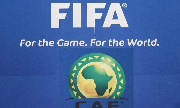 Logos of FIFA and CAF
