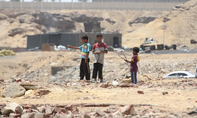 FILE- Homeless children in al-Diwqa slum in Cairo- Egypt Today/Hossam Atef