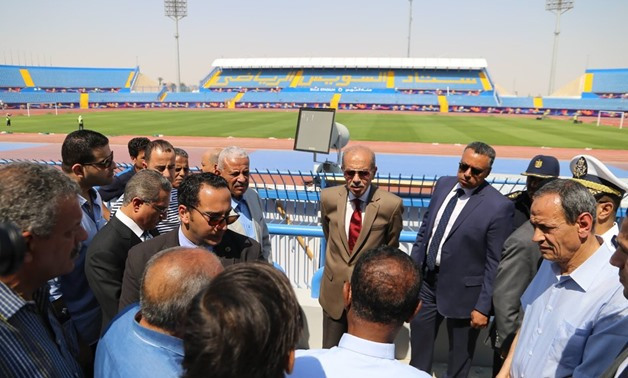 Presidential Adviser for National and Strategic Projects Sherif Ismail makes a visit to the Suez Stadium – Press photo