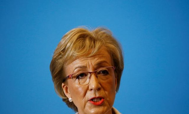 British Conservative Andrea Leadsom speaks during the launch of her campaign for the Conservative Party leadership, in London, Britain June 11, 2019. REUTERS/Henry Nicholls