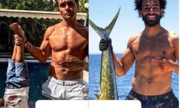 Mohamed Salah holding a large fish,  Assir Yassin holding his son in a funny response - Press photos