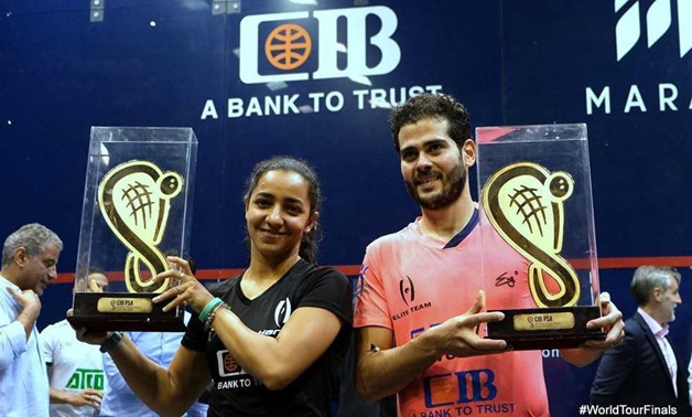 Raneem El Welily&KarimAbdelgawad crown CIB International Squash Champions - FILE