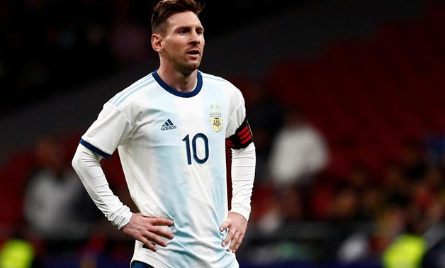 FILE PHOTO: Soccer Football - International Friendly - Argentina v Venezuela - Wanda Metropolitano, Madrid, Spain - March 22, 2019 Argentina's Lionel Messi looks dejected REUTERS/Juan Medina/File Photo
