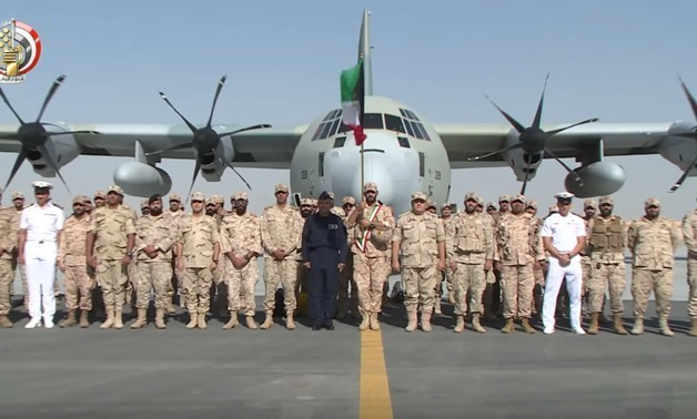 Arab forces arrive in Egypt - Still image from Youtube/Official channel of the Egyptian Ministry of Defense