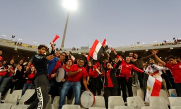 Egyptian fans in the 2019 Africa Cup of Nations (AFCON) - Press Photo