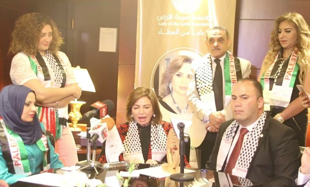 """The """"Lady of the Earth"""" Foundation awarded the Egyptian actress, Elham Shahin, with the title of """"Lady of the Earth"""" Ambassador - Youtube."""