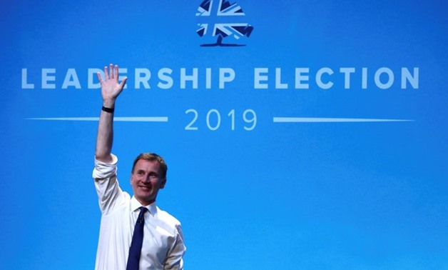 Jeremy Hunt, a leadership candidate for Britain's Conservative Party, attends a hustings event in Birmingham, Britain, June 22, 2019. REUTERS/Hannah McKay