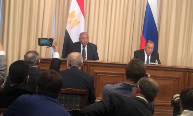 During a joint press conference on Monday with Egyptian Foreign Minister Sameh Shoukry in Moscow, Lavrov said that Russian railway and oil companies have been operating in Egypt – Press photo