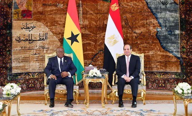 President Nana Akufo-Addo meets on Tuesday with President Abdel Fatah al-Sisi in Cairo - Press photo