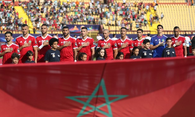 File- Soccer Football - Africa Cup of Nations 2019 - Group D - Morocco v Namibia - Al Salam Stadium, Cairo, Egypt - June 23, 2019 Morocco line up before the match REUTERS/Suhaib Salem