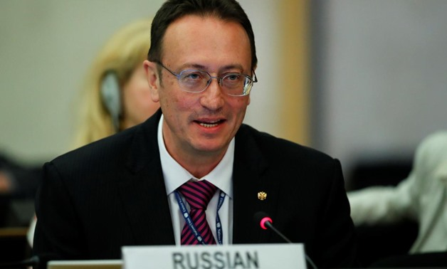 Vladimir Yermakov, Director general of the Department for non-proliferation and arms control of Russia attends the 2nd Preparatory session of the 2020 Non Proliferation Treaty (NPT) Review Conference at the United Nations in Geneva, Switzerland April 24,