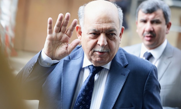 Iraq's Oil Minister Thamir Abbas Al Ghadhban reacts towards journalists as he arrives for an OPEC and NON-OPEC meeting in Vienna, Austria, July 2, 2019. REUTERS/Lisi Niesner