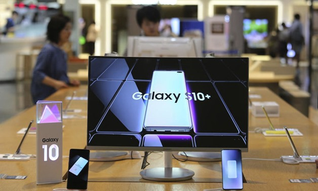 Samsung is bracing for the impact of tightened Japanese controls on exports of high-tech materials used in semiconductors and displays. (AP)