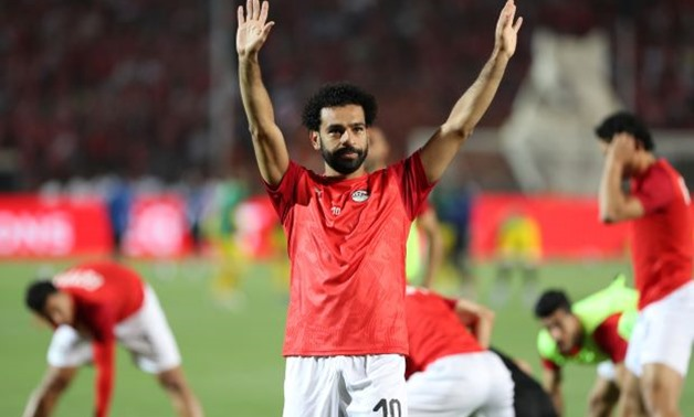 FILE PHOTO: Soccer Football - Africa Cup of Nations 2019 - Group A - Egypt v Zimbabwe - Cairo International Stadium, Cairo, Egypt - June 21, 2019 Egypt's Mohamed Salah during the warm up before the match REUTERS/Suhaib Salem