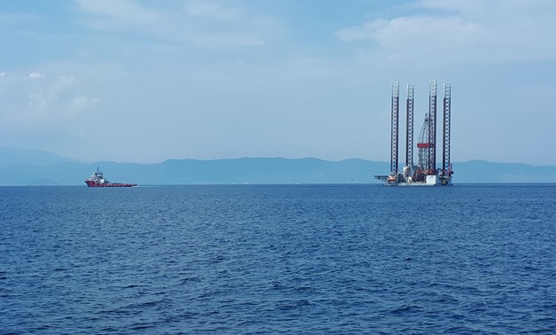GSP Jupiter rig towed to Epsilon Oil Field (7/2018) - Photo from Energean official website