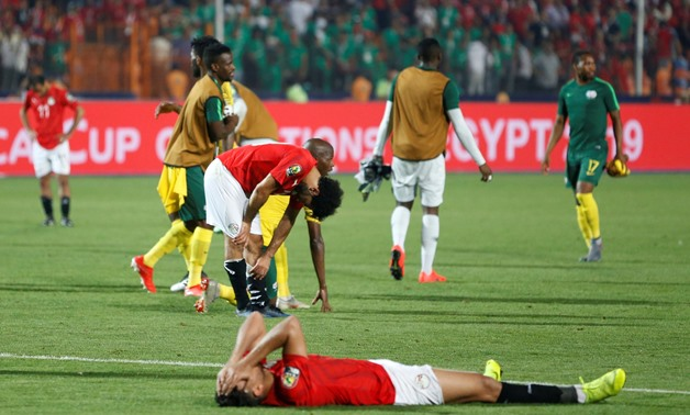 Soccer Football - Africa Cup of Nations 2019 - Round of 16 - Egypt v South Africa - Cairo International Stadium, Cairo, Egypt - July 6, 2019 Egypt's Mohamed Salah looks dejected after the match REUTERS/Amr Abdallah Dalsh