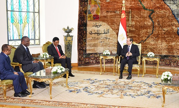 PRESS: President Abdel Fatah al-Sisi received Tanzanian Prime Minister Kassim Majaliwa at the Ittihadiya Palace on Wednesday, July 10, 2019