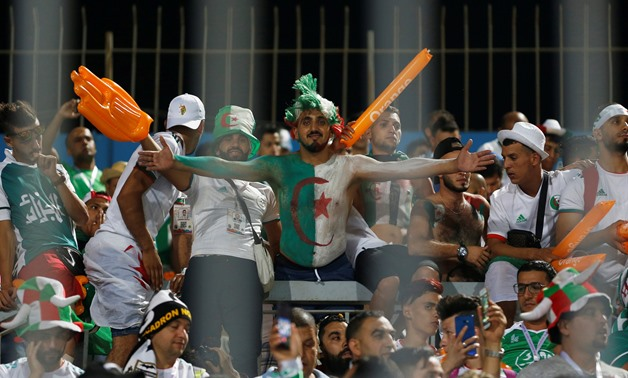 Soccer Football - Africa Cup of Nations 2019 - Round of 16 - Algeria v Guinea - 30 June Stadium, Cairo, Egypt - July 7, 2019 Algeria fans before the match REUTERS/Amr Abdallah Dalsh