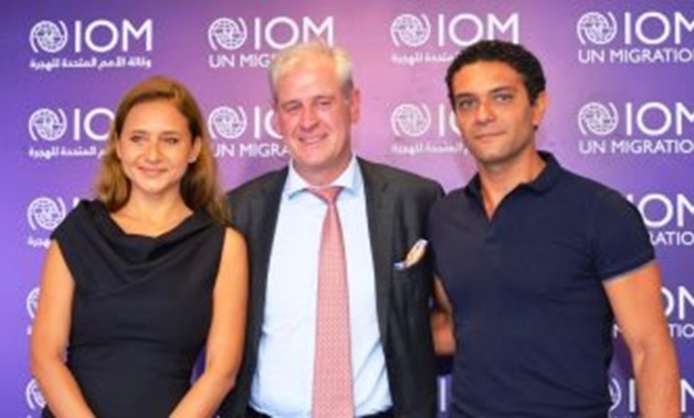 File - Nelly Karim and Asser Yassin appointed as goodwill ambassadors for IOM.