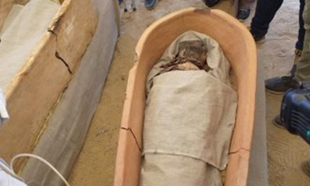 File - one of the discovered coffins.