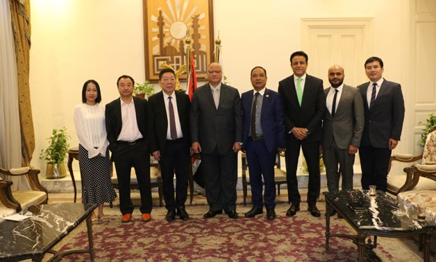 Chinese investors delegation received by Cairo Governor Khaled Abdel Aal. July 14, 2019. Press Photo