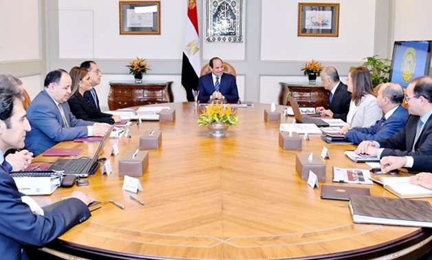 Egypt's President Abdel Fatah al-Sisi has called on officials to continue working on reducing the public debt and budget deficit, during a meeting with members of the ministerial economic committee – Press photo