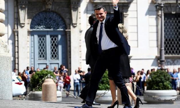 Italy's Minister of Agriculture Gian Marco Centinaio arrives at the Quirinal palace in Rome, Italy, June 1, 2018. REUTERS/Alessandro Bianchi