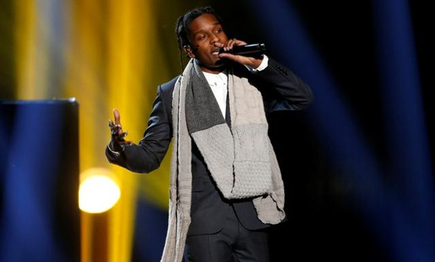 "FILE PHOTO: A$AP Rocky performs ""I'm Not the Only One"" with Sam Smith (not pictured) during the 42nd American Music Awards in Los Angeles, California November 23, 2014. REUTERS/Mario Anzuoni/File Photo."