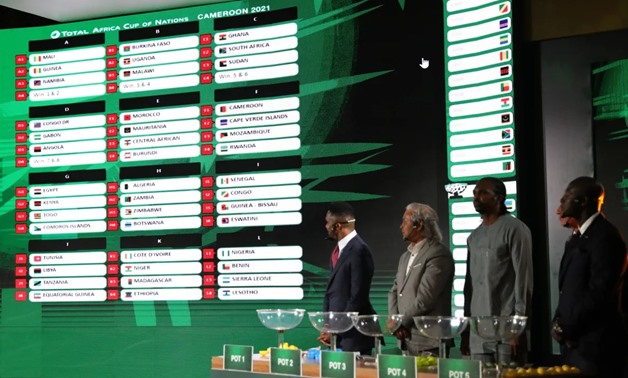 FILE - 2021 AFCON Qualifiers draw