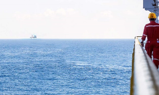 FILE - Works on Zohr field on the Mediterranean- Photo courtesy of Eni website