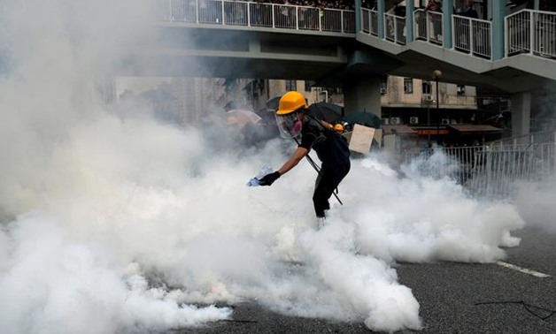 Police, widely criticized for failing to better protect the public from the attack by club-wielding men in Yuen Long, refused to allow the march in the town on safety grounds.  But activists pushed ahead and by 4.45 p.m. (0845 GMT) several thousand had