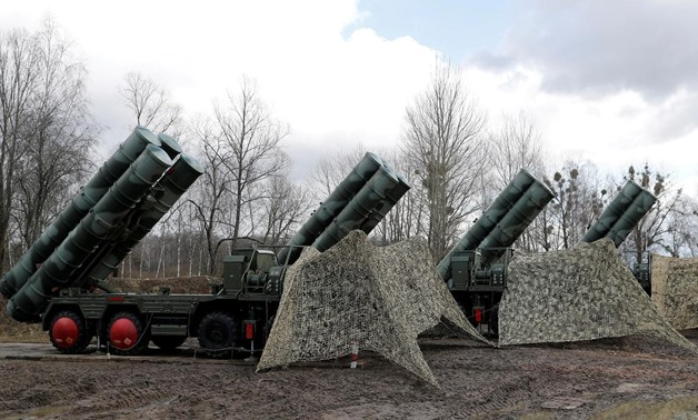 "FILE PHOTO: A view shows a new S-400 ""Triumph"" surface-to-air missile system after its deployment at a military base outside the town of Gvardeysk near Kaliningrad, Russia March 11, 2019. REUTERS/Vitaly Nevar/File Photo"