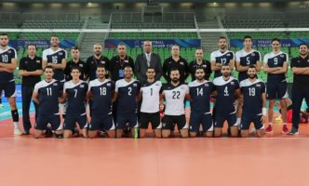 FILE - Egypt's volleyball team