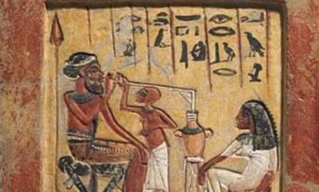Ancient Egyptian painting showing the straw's use in B.C. 1350 – File Photo